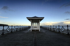 Swanage Pier. A winter's afternoon at Swanage Pier in Dorset Stock Images