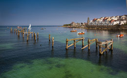 Swanage Pier and Bay in Summer Stock Image