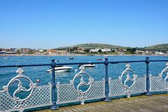 Swanage pier and coastline. Stock Photography
