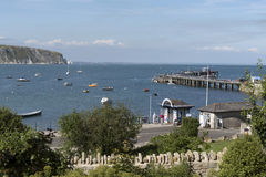 Swanage pier in Dorset England UK Stock Photos