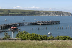 Swanage pier in Dorset England UK Royalty Free Stock Images