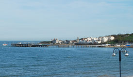 Swanage Pier Dorset. Swanage Pier from North Beach Stock Photography