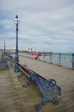 Swanage Pier Dorset Regno Unito Fotografia Stock Libera da Diritti