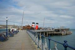 Swanage Pier Dorset Regno Unito Fotografie Stock Libere da Diritti