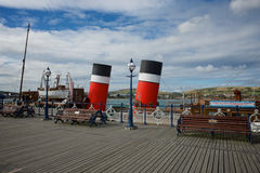 Swanage Pier Dorset Reino Unido Imagenes de archivo