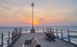 Swanage Pier at Sunrise Royalty Free Stock Photos