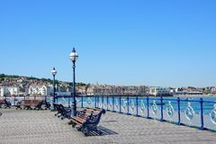 Swanage pier and town. Royalty Free Stock Images