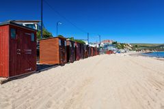 Swanage plaża Dorset Anglia UK obrazy royalty free