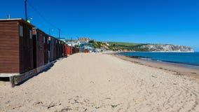 Swanage strand Dorset England UK royaltyfri fotografi