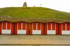 Swanage Strand-Hütte Lizenzfreies Stockbild