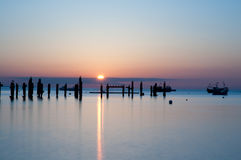 Swanage sunrise Royalty Free Stock Images