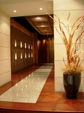 Swanky marble lobby. Swanky lobby with shiny marble and parquet flooring Royalty Free Stock Photos