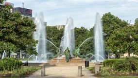 Swann Memorial Fountain Logan Circle, Philadelphia, Pennsylvania Royaltyfri Foto