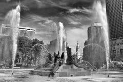 Swann Memorial Fountain no centro de Philadelphfia, PA, EUA imagens de stock royalty free