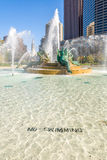 Swann Memorial Fountain, Philadelphia. With City Hall on background Stock Photos