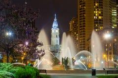 Swann Memorial Fountain  Philadelphia. Swann Memorial Fountain With City Hall In The Background Philadelphia Stock Images