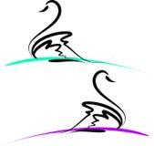 Swans royalty free illustration