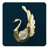 Swans. Abstract swan with geometric  composition Royalty Free Stock Photos