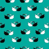 Swans pattern seamless sea-color pattern vector illustration