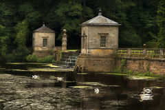 Swans Castles Water Reflections Romance on an English Estate Royalty Free Stock Image
