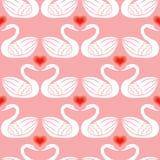 Swans seamless pattern Stock Photography