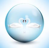 Swans in sphere Royalty Free Stock Images