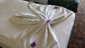Swans of towels Royalty Free Stock Images