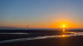 Swansea beach sunrise Royalty Free Stock Photography
