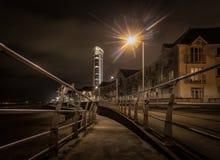 Swansea deptak przy nocą Obraz Royalty Free