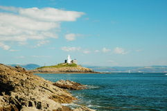 Swansea et phare photo stock