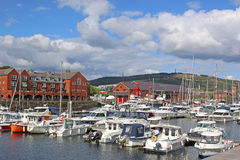 Swansea Harbour. Boats moored in Swansea Marina Royalty Free Stock Photography