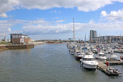 Swansea harbour, Wales Royalty Free Stock Images