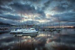 Swansea Marina odbicia Obrazy Stock
