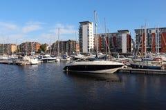 Swansea Marina, Wales, UK Stock Images