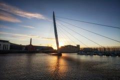 Swansea Millennium Bridge Stock Image