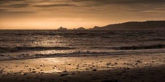 Swansea podpalany i bełkota latarnia morska Zdjęcie Stock