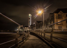 Swansea promenade at night Royalty Free Stock Image