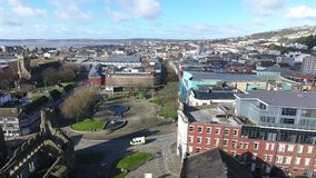 Swansea-Schloss- und -schlossquadrat stock video