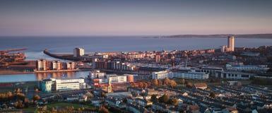 Swansea stad södra Wales fotografering för bildbyråer