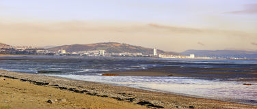 Swansea sunset from Mumbles Royalty Free Stock Photos