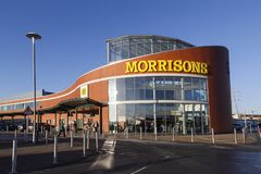 Morrisons Petrol Station stock images