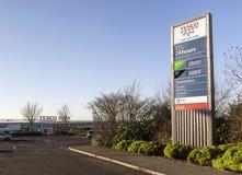 Tesco Extra Main Entrance Stock Photo