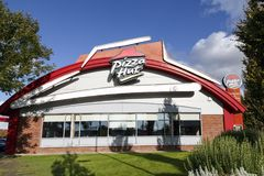 Pizza Hut. Swansea, UK: September 21, 2017: Pizza Hut is an American restaurant and franchise, known for its Italian-American cuisine menu including pizza and Royalty Free Stock Photos
