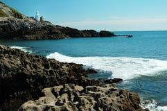 Swansea und Leuchtturm Stockfoto