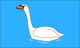 Swansimning i laken stock illustrationer