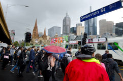 Swanston Street  - Melbourne Royalty Free Stock Photos