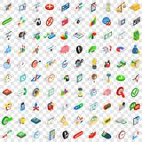 100 swap icons set, isometric 3d style. 100 swap icons set in isometric 3d style for any design vector illustration Stock Photo
