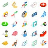 Swap icons set, isometric style. Swap icons set. Isometric set of 25 swap vector icons for web isolated on white background Stock Image