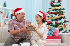 Swapping Christmas presents Royalty Free Stock Image