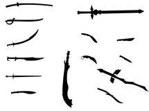 Swards et couteaux photo libre de droits